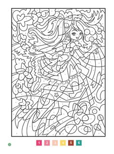 floral design color by number coloring pages for adults Pattern Coloring Pages, Free Printable Coloring Pages, Colouring Pages, Adult Coloring Pages, Coloring Sheets, Coloring Books, Adult Color By Number, Color By Number Printable, Color By Numbers