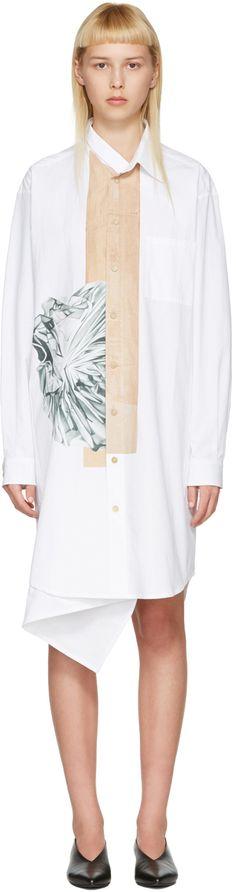 Bless: White Neckerchief Dress | SSENSE