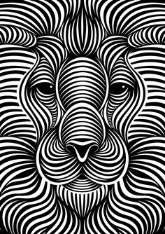 Lion : faces iii by patrick seymour on behance amazing drawings, art drawings, patrick Illusion Kunst, Illusion Drawings, Art Optical, Optical Illusions, Optical Illusion Art, Optical Illusion Wallpaper, 3d Art Drawing, Art Drawings, Flower Drawings