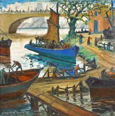"Benito Quinquela Martin,""Primavera"". Pablo Picasso, South America, City, Painting, Bridges, Portrait Art, Artworks, Portraits, Paintings"