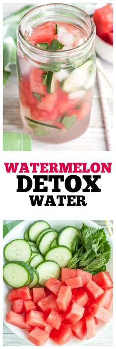 Stay hydrated with the watermelon detox water. Filled with watermelon, cucumber and mint. A refreshing sugar free drink.