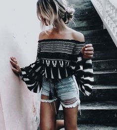 summer outfits denim shorts style
