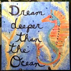 Seahorse Ocean Dream Painting Mixed Media by PaintedInclinations, $54.00 https://www.etsy.com/listing/184433051/seahorse-ocean-dream-painting-mixed?ref=shop_home_active_1