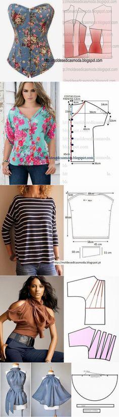 Летние юбки и блузы с простыми выкройками | Рукоделие
