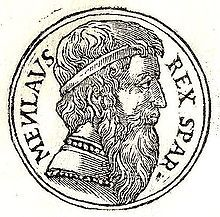 In Greek mythology, Menelaus was a legendary king of Mycenaean Sparta, the husband of Helen of Troy, and a central figure in the Trojan War. He was the son of Atreus and brother of Agamemnon king of Mycenae and, according to the Iliad, leader of the Spartan contingent of the Greek army. Prominent in both the Iliad and Odyssey, Menelaus was also popular in Greek vase painting and Greek tragedy; the latter more as a hero of the Trojan War than as a member of the doomed House of Atreus.