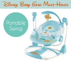 FINDING NEMO Fins & Friends Portable Swing: 6 Disney Baby Gear Must Haves | DisneyBaby.com