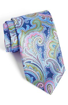 David Donahue Silk Paisley Tie Sharp Dressed Man, Well Dressed Men, Tie And Pocket Square, Pocket Squares, Paisley Tie, Elegant Man, Mens Attire, Long Ties, Gentleman Style