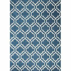 """Anchor your living room seating group or define space in the den with this artfully hand-tufted wool rug, showcasing a quatrefoil trellis motif for eye-catching appeal.  Product: RugConstruction Material: WoolColor: TealFeatures:  Hand-tuftedLoop pile   Pile Height: 0.5"""" Note: Please be aware that actual colors may vary from those shown on your screen. Accent rugs may also not show the entire pattern that the corresponding area rugs have.Cleaning and Care: Regular vacuuming. Spot cleaning…"""