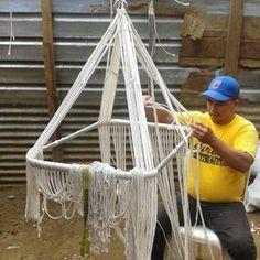 HamacArt: Weaving a macrame bassinet #hammocks