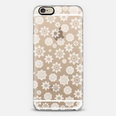 Mini Flurries (transparent) iPhone 6 case by Lisa Argyropoulos get $10 off using code: H5E5FU #flurries #snowflakes #white #transparent #iPhone6 #iPhone #case #cover #accessories #winter #festive #holiday #Christmas #cute #casetify