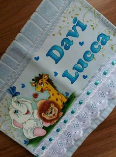 Débora. Davi Baby Painting, Tole Painting, Fabric Painting, Painting Tips, Toddler Towels, Baby Washcloth, Cute Paintings, Rose Art, Baby Room