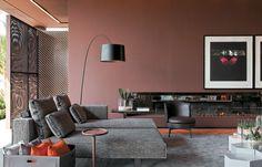 brown walls #decor
