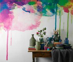 Déco murale effet aquarelle