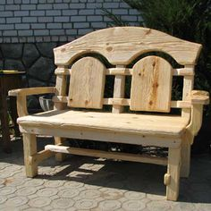 Rustic Log Furniture, Outdoor Furniture Plans, Woodworking Furniture Plans, Bench Furniture, Carpentry Projects, Wood Projects, Reclining Rocking Chair, Metal Picnic Tables, Palette Furniture