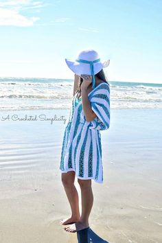 Free Crochet Pattern - Beach Day Sunhat part of the #CelebrateMomCAL, designed by A Crocheted Simplicity