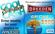 Enter weekly for your chance to win each week's Cool Summer Cash prize of $500!