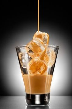 Buttered Toffee:  1 ounce Kahlua,1 ounce Bailey's,1 ounce amaretto, 3 ounce Half-n-Half