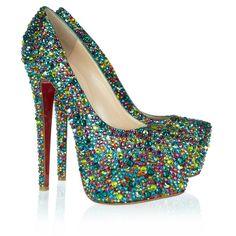louis vuitton mens shoes - CHRISTIAN LOUBOUTIN Metallic Lame Satin Lady Peep Spikes 150 ...