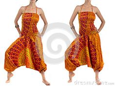 Multi-Color Harem Pants with Indian Pattern