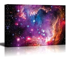 Canvas Prints Wall Art  The Magellanic Cloud is a Dwarf Galaxy and a Galactic Neighbor of the Milky Way  24 x 36 >>> To view further for this item, visit the image link.Note:It is affiliate link to Amazon.