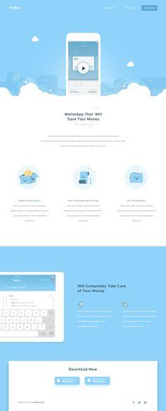 Wallet - Landing Page