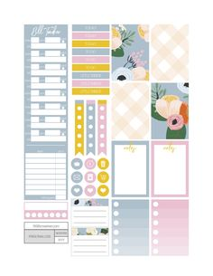 In the Garden Planner Stickers - Fit Life Creative