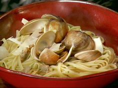 Linguine with White Clam Sauce recipe from Anne Burrell via Food Network