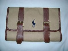 e1725419a8ba Ralph Lauren Polo Canvas Hanging Travel Dopp Kit Toiletry Shaving Kit NWOT
