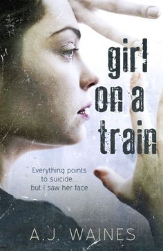 Book Cover Art for Girl on a Train by AJ Waines. Design by Paper & Sage. http://paperandsage.com