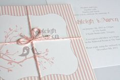 Birds Wedding invitation