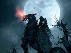 This HD wallpaper is about Death Grim Reaper Dark Horse Moon Halloween HD, fantasy, Original wallpaper dimensions is file size is Dark Angel Wallpaper, Horse Wallpaper, Hd Wallpaper, Gothic Wallpaper, Fantasy Kunst, Dark Fantasy Art, Dark Art, Fantasy Images, Don't Fear The Reaper