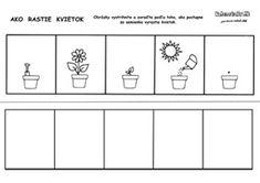 Pracovný list - od semienka k rastlinke Educational Activities, Kindergarten, Crafts For Kids, Preschool, Jar, Science, Ideas, Image, Cute Ideas