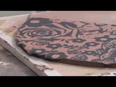 Ceramic Arts Daily – Screen Printing and Mono Printing Techniques on a Simple Handbuilt Plate