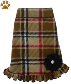 Winter Plaids - Fleece Pullover- Tank or Dress w/Pin – Assorted Colors – in Dog Sizes XS thru Large * You can get additional details at the image link. (This is an affiliate link and I receive a commission for the sales)