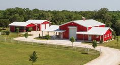 Steel Buildings That Exceed Industry Standards. Mueller Metal Buildings has been in business for over 86 years and was founded by Walter Mueller in Mueller Metal Buildings, Steel Buildings, Metal Shop Houses, Roof Trim, Red Roof, Loafing Shed, Small Barns, Steel Frame House, Steel House