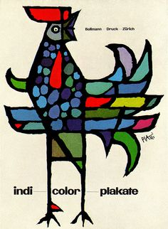 Ad for Zurich printers specializing in color posters. From Graphis Annual 58/59.