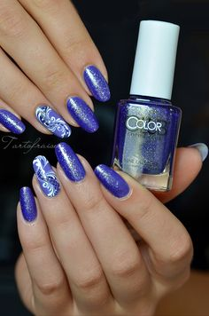 Nail art Baroque Glitter facile