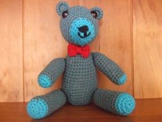 Dr+Blu+-+Crocheted+Teddy+Bear