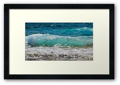 'Blue Wave Crashing ' Framed Print by lukedwyerartist Wall Prints, Canvas Prints, Coastal Art, Beach Art, Art Boards, Waves, Tapestry, Stickers, Artwork