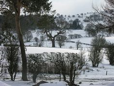 Snowy view at Rivercatcher Luxury Holiday Cottages - www.rivercatcher.co.uk
