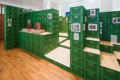 yalla yalla! stacks vegetable crates for exhibition in germany - see more and video on blog