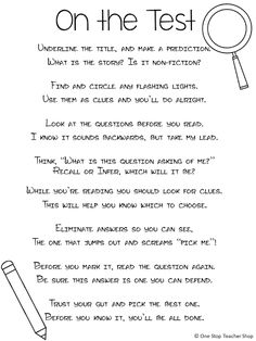 Test prep can be stressful, but it doesn't have to be! Read my favorite test prep ideas for test taking strategies and getting students ready for standardized tests. Grab the free test taking strategies rap! (It's adorable) Prayer For Students, Staar Test, Test Taking Strategies, Test Anxiety, 4th Grade Reading, Reading Intervention, Study Skills, Math Classroom, Classroom Ideas
