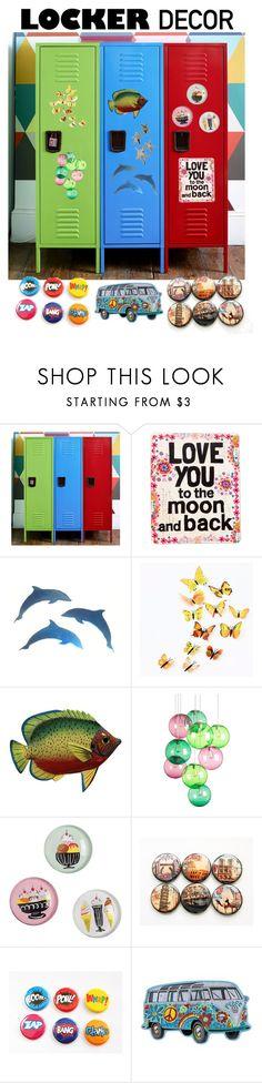 """Locker Decor"" by giovanina-001 ❤ liked on Polyvore featuring interior, interiors, interior design, home, home decor, interior decorating, Natural Life, Fatboy, IMAX Corporation and mylocker"