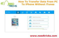 iPhone Manage is one of the best software which will help you to transfer any file from your PC to iPhone. You can transfer any data even if the file size is bigger. You can transfer GBs of files from PC to iPhone in just a few seconds. In the following article we are going to tell you How To Transfer Data From PC To iPhone Without iTunes.