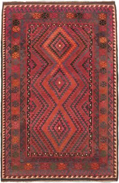 "Hand-knotted Kazak rug - 5' x 7'10"". $235.00"