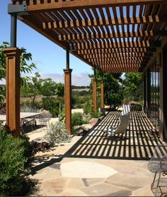 The pergola kits are the easiest and quickest way to build a garden pergola. There are lots of do it yourself pergola kits available to you so that anyone could easily put them together to construct a new structure at their backyard. Metal Pergola, Pergola With Roof, Wooden Pergola, Outdoor Pergola, Covered Pergola, Backyard Pergola, Metal Roof, Pergola Lighting, Attached Pergola