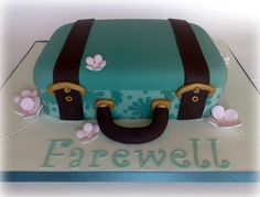 Small Things Iced: Farewell Suitcase Cake