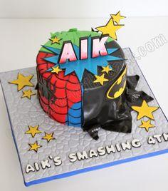 Celebrate with Cake!: Superhero Mash Up Cake
