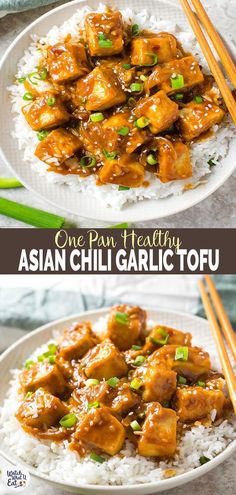 Try this one pan stir fry Asian Tofu in chili garlic sauce. Under 30 min quick, easy and healthy recipe for meatless/vegan lunch or dinner. asian recipe 30 min Healthy Asian chili garlic tofu stir-fry (One Pan, Meatless) Tofu Recipes, Asian Recipes, Cooking Recipes, Healthy Recipes, Ethnic Recipes, Meal Recipes, Vegetable Recipes, Homemade Pesto Sauce, Chickpea Patties