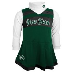 New York Jets Toddler Cheer Jumper - Green